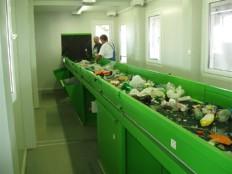sortirna linija za sortiranje komunalnih odpadkov KRK 7